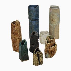 Mid-Century English Ceramic Sculptures, Set of 8