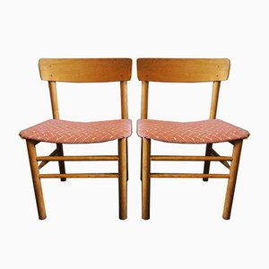Chaises d'Appoint J39 Vintage en Orme par Børge Mogensen pour Farstrup Møbler, 1950s, Set de 2