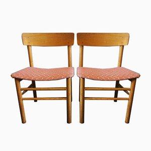 Vintage Ulmenholz J39 Beistellstühle von Børge Mogensen für Farstrup Møbler, 1950er, 2er Set