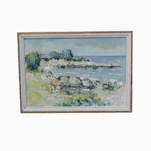 Gunnar Willford, Schwedische Impressionistische Malerei, Öl auf Leinwand, 1960