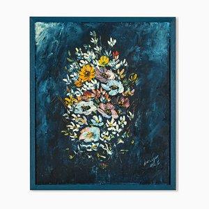 Bouquet, olio su tela, anni '60