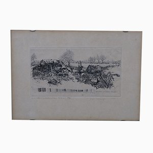 Jens Cords, Abstract, Etching, 1975