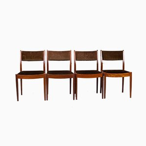 Vintage Afromosia Dining Chairs from G-Plan, 1970s, Set of 4