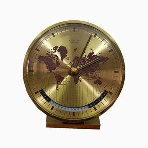 Orologio da tavolo Worldtimer di Heinrich Möller per Kienzle International, anni '60