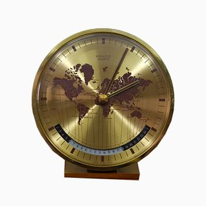 Worldtimer Table Clock by Heinrich Möller for Kienzle International, 1960s