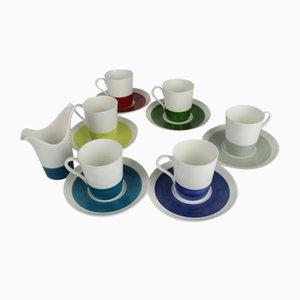 Farbige Mid-Century Kaffeetassen von Stig Lindberg für Gustavsberg, 6er Set
