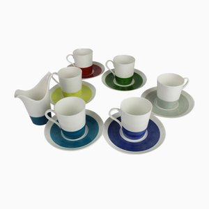 Mid-Century Color Coffee Cups by Stig Lindberg for Gustavsberg, Set of 6