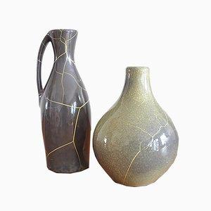 German Ceramic Vase by Richhard Uhlemeyer, 1950s, Set of 2