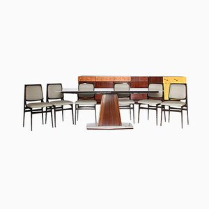 Rosewood Living Room Set from Dassi, 1960s, Set of 8