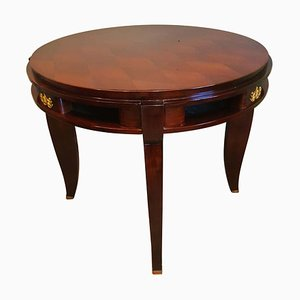Art Deco Round Center Table by Jules Leleu, France, 1930s