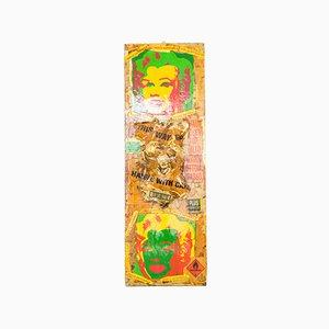 Giuseppe De Simone, Marilyn Pop Art Piece, 2009, Mixed Media on Wood Canvas