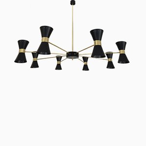 Large Italian Double-Coned Chandelier, 1958