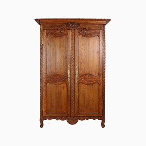French Oak Wardrobe, 19th Century
