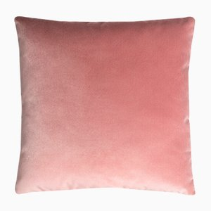 Velvet Velvet Plain Pink-Colored Cushion without Frame by Lorenza Briola