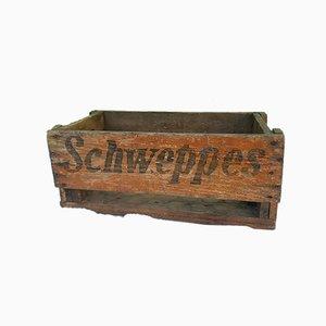 Holzkiste von Schweppes, 1940er