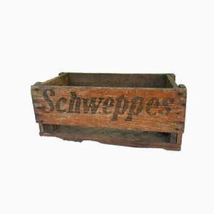 Wooden Crate from Schweppes, 1940s