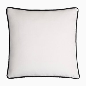 Happy Frame Soft Velvet Cushion with Contrasting Color & Black and White Frame by Lorenza Briola for Lo Decor