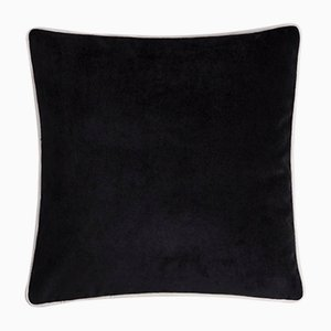 Happy Frame Soft Velvet Cushion with Contrasting Color & Black and White Frame by Lorenza Briola
