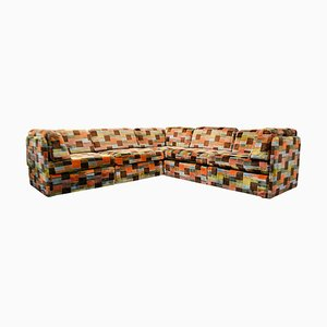 Vintage Swedish Modular Patchwork Sofa, Set of 5