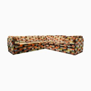 Vintage Swedish Modular Patchwork Sofa, Set of 5