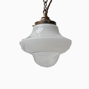 Mid-Century German 2-Tone Opaline Pendant Lamp, 1950s