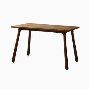 Escritorio o mesa de comedor danesa de abedul atribuida a Philip Arctander, años 40