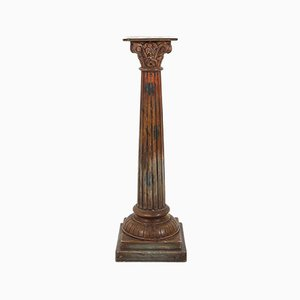 Antique Wooden Corinthian Column