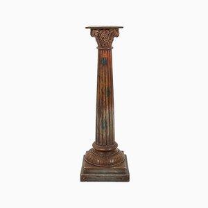Antique Wooden Corinthian Column