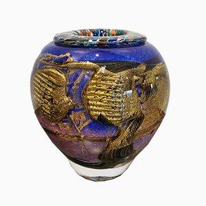 Vaso in vetro soffiato di Jean Claude Novaro, inizio XXI secolo