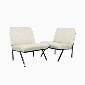 Brass Lounge Chairs, 1970s, Set of 2