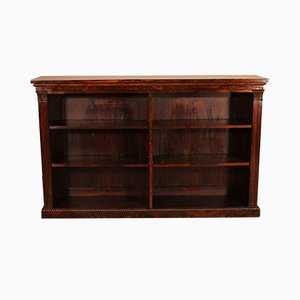 Antique William IV Rosewood Open Bookcase, Early 19th Century