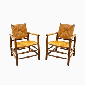 Mid-Century Armchairs by Charlotte Perriand, Set of 2