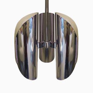 Italian Ceiling Lamp in Chrome by Gaetano Sciolari, 1970s