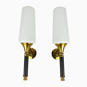 Torch Wall Light by Arlus, 1960s, Set of 2