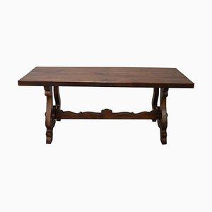 Tavolo da pranzo Fratino in legno di quercia massiccio, anni '50