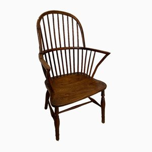 Antique Yew and Elm Windsor Armchair