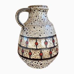 Vaso Fat Lava grande di Jasba Keramik, anni '60