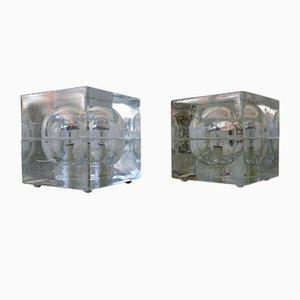 Mundgeblasene Tischlampen von Müller & Zimmer, 1970er, 2er Set