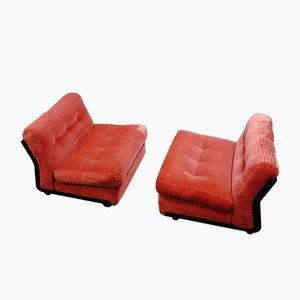 Amanta Lounge Chairs by Mario Bellini for B&B Italia / C&B Italia, 1974, Set of 2