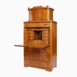 Antique Biedermeier Ash Secretaire