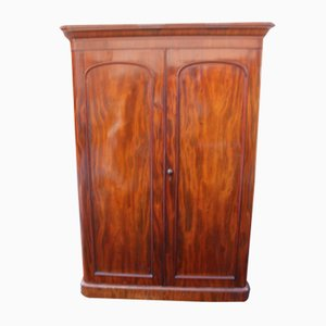 2 Door Mahogany Wardrobe with Drawers at Base, 1900s