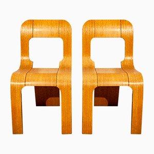 Sedie impilabili di Gigi Sabadin per Artieri, anni '60, set di 2