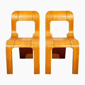 Stackable Chairs by Gigi Sabadin for Artieri, 1960s, Set of 2