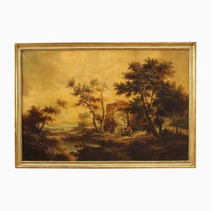 Large Landscape Painting, 20th Century