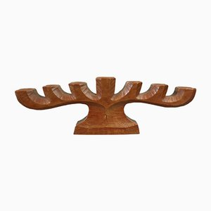 Anthroposophical Wooden Candleholder, 1950s