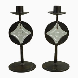 Swedish Candleholders by Erik Höglund, 1960s, Set of 2