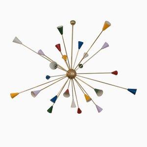 Mid-Century Italian Sputnik Chandelier, 1958