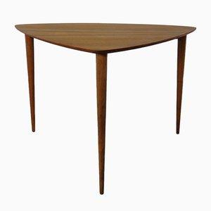 Mid-Century Triangular Teak Side Table, 1960s