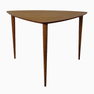 Table d'Appoint Mid-Century Triangulaire en Teck, 1960s