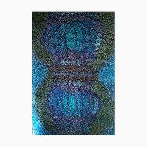 Blue Wool Katiska Wall Carpet by Terttu Tomero, 1960s
